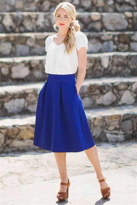 17 best ideas about blue skirt on