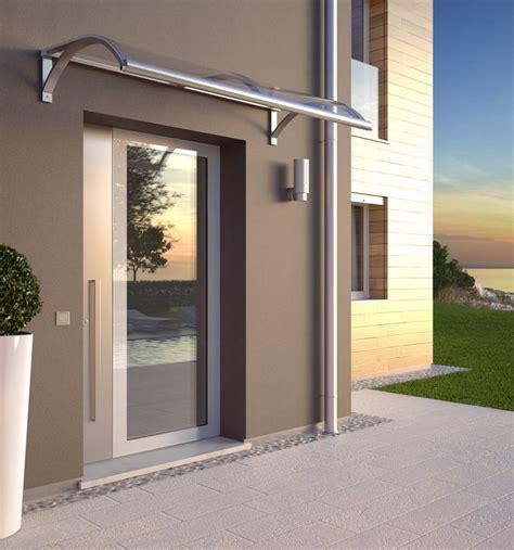 tettoia moderna classica pensilina in alluminio con policarbonato linea