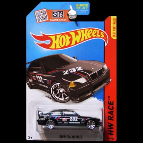 Hotwheels Bmw E36 M3 Race C 443 wheels 2015 hw race world bmw e36 m3 race in black carminiatures
