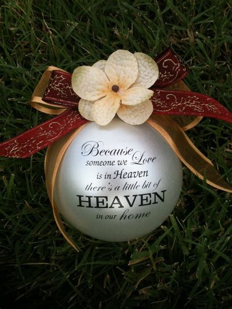 custom christmas ornament because someone we love is in