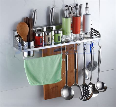 Utensil Racks For Kitchens by 304 Stainless Steel Kitchen Rack Kitchen Shelf Cooking