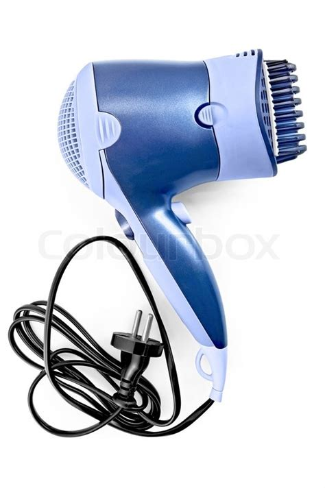 Hp8200 Hair Dryer For Blue Black blue hair dryer with comb nozzle and black wire with a