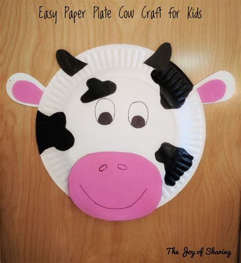 Cow Paper Plate Craft - the of paper plate cow craft