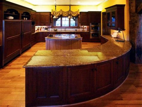 curved island kitchen designs curved kitchen island design home design ideas