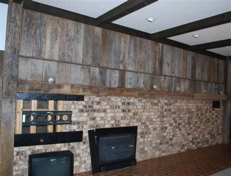 What to do with this Barn wood/Brick wall