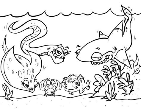 fish habitat coloring pages ocean habitat clipart black and white clipartxtras