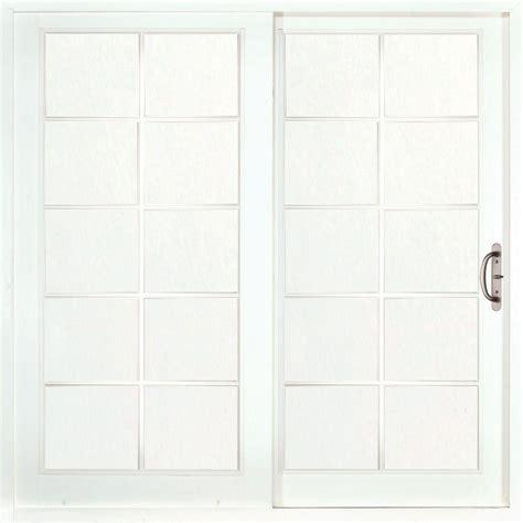 Composite Sliding Patio Doors by Masterpiece Composite Right Woodgrain Interior 10