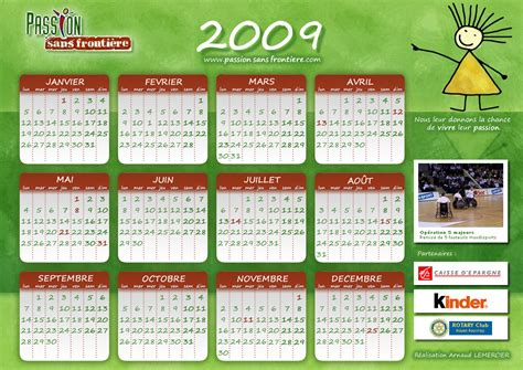 Calendrier Annee 2009 Calendrier 2009 Disponible Sans Fronti 232 Re
