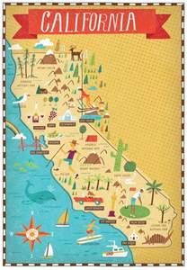 california attraction map california map by nate padavick map travel
