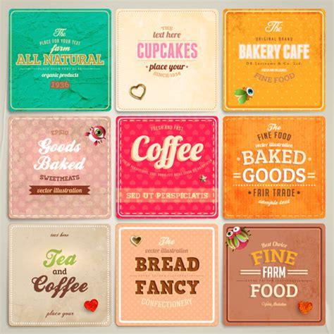 label design eps cute food labels design vector free vector in adobe