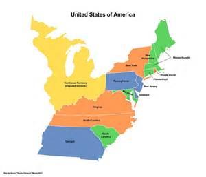 imagequiz map of the 13 original states