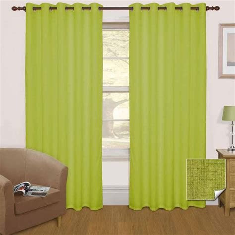 black and green curtains thermal blackout eyelet ready made curtains black cream
