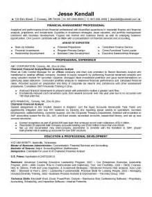 Financial Analyst Resume Objective by Exle Chartered Financial Analyst Resume Free Sle