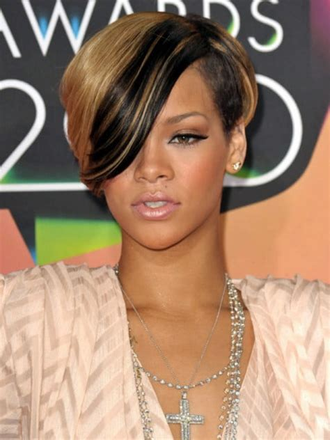 Would You Try An Asymmetrical Bob Like Rihanna And Kellie by 51 Top Rihanna Hairstyles That Are Worth Trying For Every