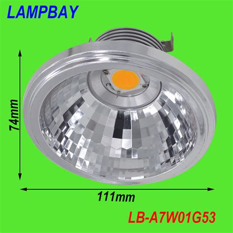 Lu Downlight 7w aliexpress buy led ar111 cob reflector 7w g53 12v 770lm replace to 50w bulb high lumens