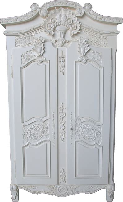 small versailles armoire antique white reproduction wooden