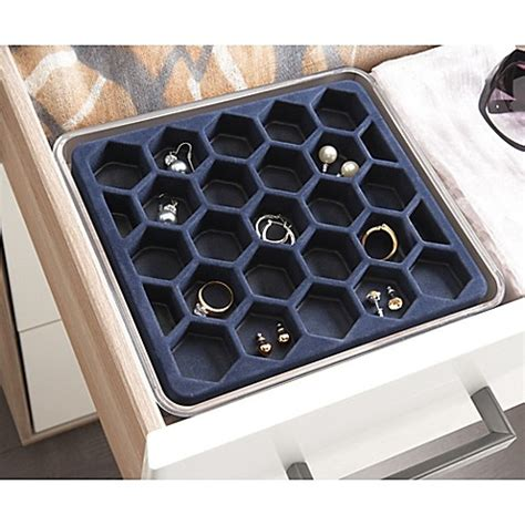 stackable storage drawers bed bath and beyond buy org stackable medium earring tray from bed bath beyond