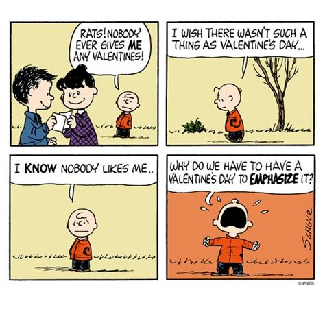 valentines day comics brown s thoughts on valentines day today s