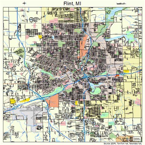 where is flint on map flint michigan map 2629000