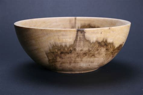 handmade mineral stained poplar wood bowl 602 by stephen