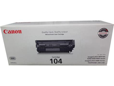 Printer Canon L120 canon 104 0263b001ba faxphone l120 imageclass mf4150 mf4690 black toner oem ebay