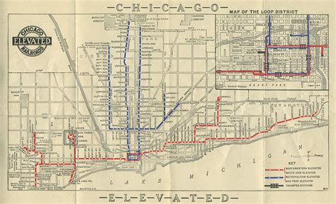 chicago map 1920 keeping everyone in the loop 50 years of chicago l