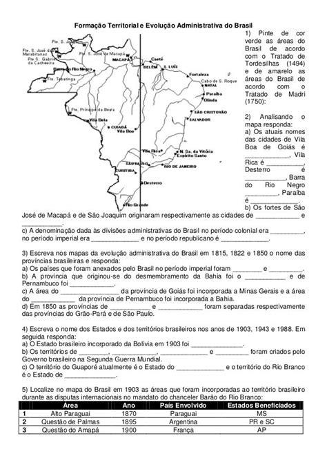 Formação Territorial e Evolução Administrativa do Brasil1