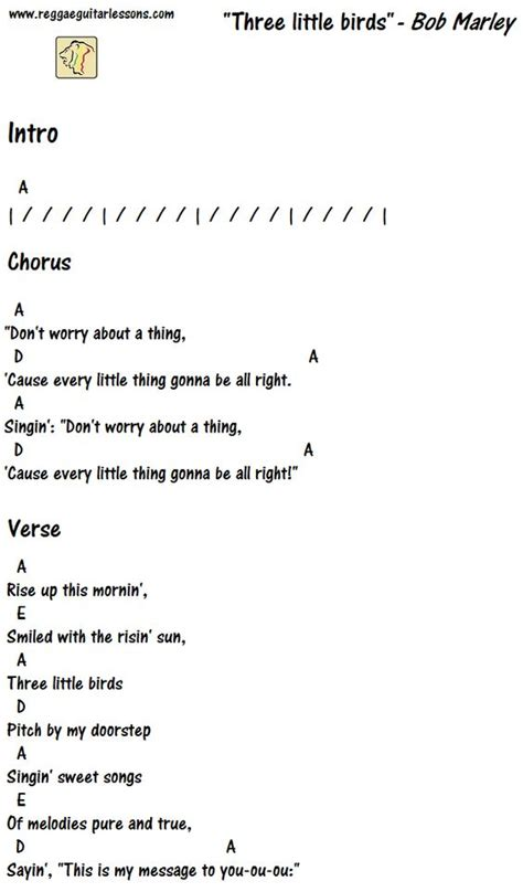 free bird testo three birds chords guitar chord charts