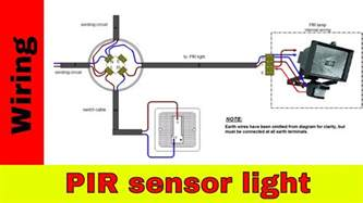 how to wire pir sensor light
