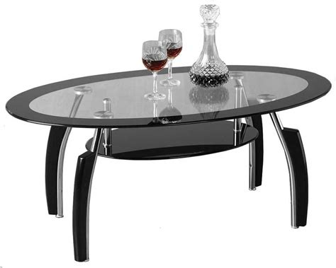 Elena Black And Clear Glass Coffee Table Black Glass Coffee Tables