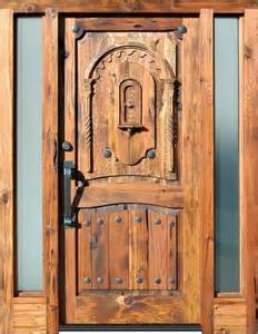 Antique Blue Vanity Carved Western Front Doors Asian