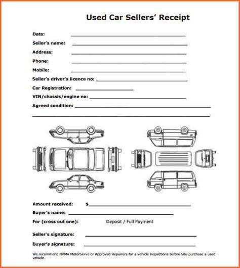 Car Deposit Receipt Template Pdf by 9 Car Deposit Receipt Template Budget Template Letter