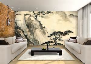 Large Wall Art For Living Room chinese landscape custom wallpaper mural print by jw