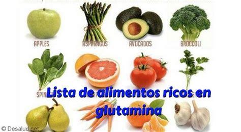 lista de alimentos ricos en glutamina tu blog de salud  vida