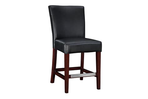 leather counter height bar stools black bonded leather counter stool 24 quot seat height powell