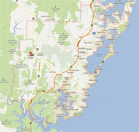 map of central coast business for sale central coast