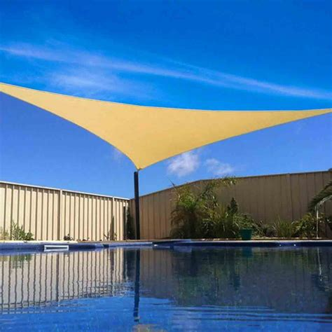 Canvas Triangle Awnings by New Sun Shade Sail Outdoor Triangle Canopy Cover Pool