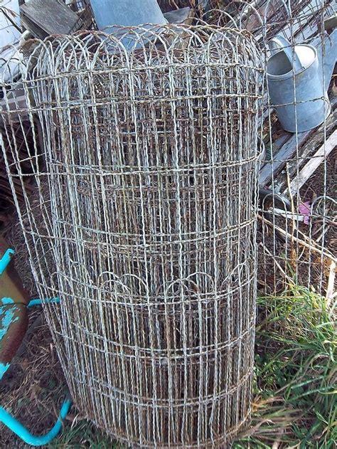 garden wire garden yard wire fencing hairpin 1920s cottage style wire