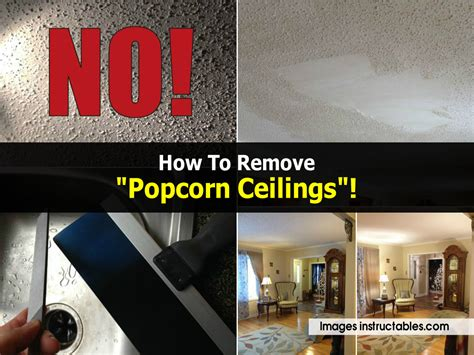 how to remove quot popcorn ceilings quot