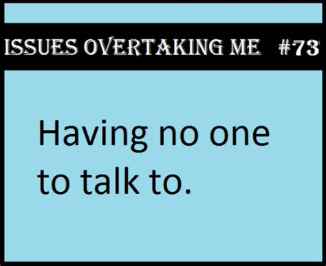To Talk by No One To Talk To On