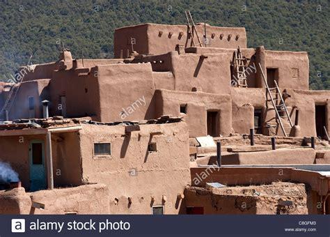 native american housing traditional adobe native american housing stock photo