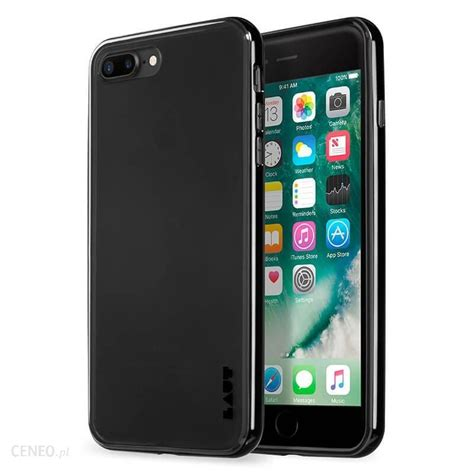 Iphone Z Black by Laut Exoframe Iphone 7 Plus Aluminiową Ramką Z 2 Foliami Na Ekran W Zestawie Jet Black