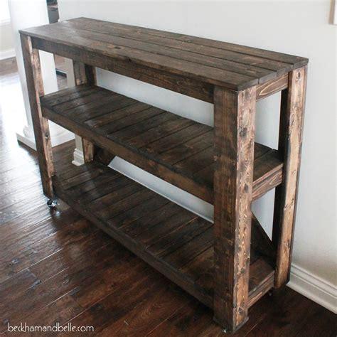 super easy diy wooden entryway console table entryway