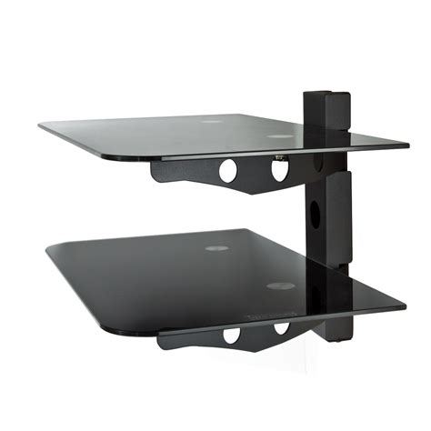 Audio Shelf Wall Mount by Component 2 Tier Wall Mount Shelf Av Dvd Cable Box