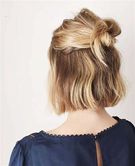 half updo bun hairstyles short hair updos 30 easy and stylish updos for short hair