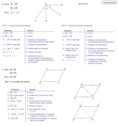 Geometric Proofs Worksheet by Math Plane Proofs Postulates 1 Worksheet