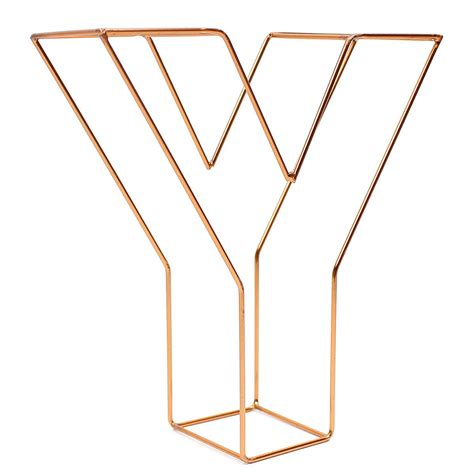 Letter Home Decor by Copper Wire Letter Y 15 Cm Hobbycraft