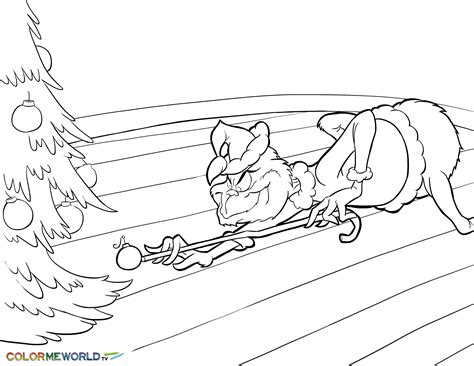 The Grinch Stealing Christmas Pdf Printable Coloring Page Free Printable Grinch Coloring Pages