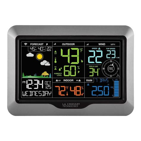 la crosse technology wifi weather station connected crib
