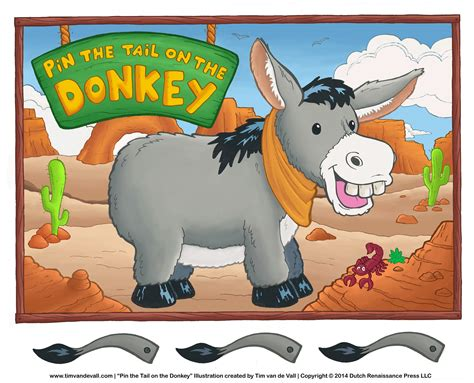 printable version of pin the tail on the donkey tim van de vall comics printables for kids